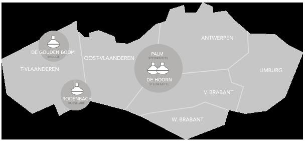 mappa birrifici Palm